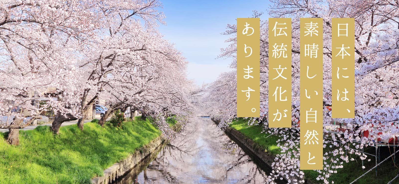 日本には、素晴しい自然と伝統文化があります。